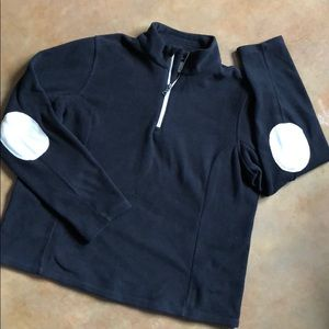 Cozy Lands End Half-Zip Fleece Pullover, size M